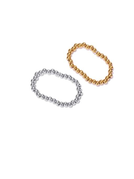 ACCA Brass Bead Round Minimalist Band Ring