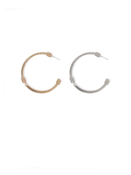 ACCA Brass Round Vintage Single Earring