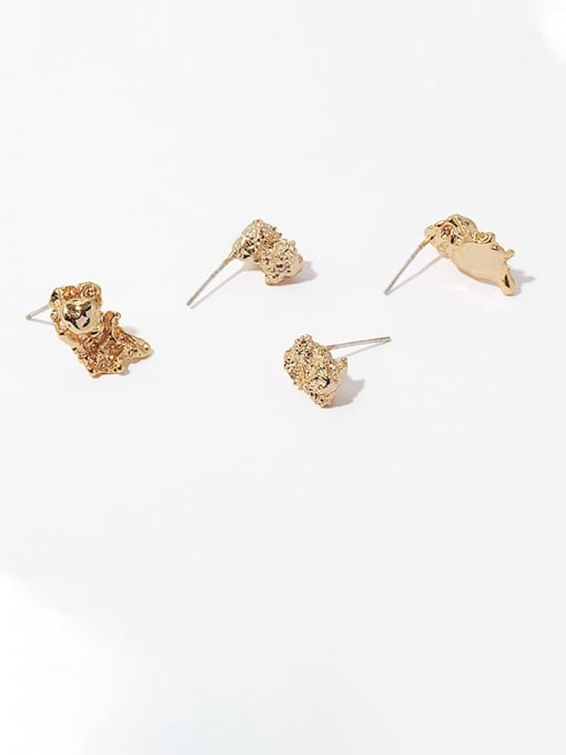 TINGS Brass Irregular Vintage Stud Earring