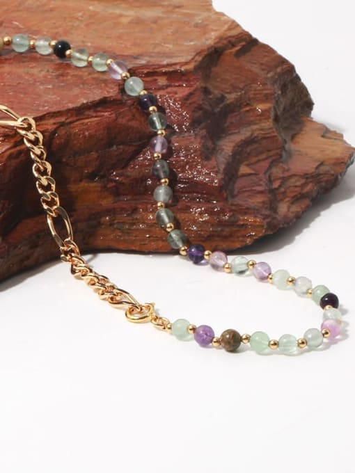 TINGS Brass Freshwater Pearl   Natural stone Hip Hop Necklace 3