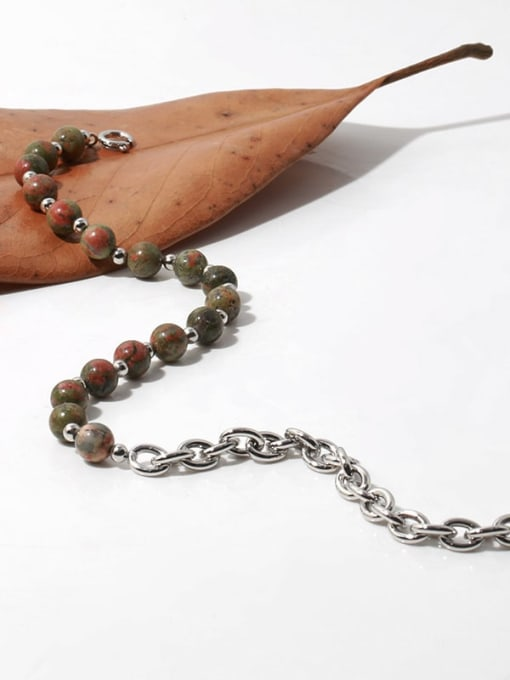 TINGS Brass Imitation Pearl Geometric Vintage Necklace 3