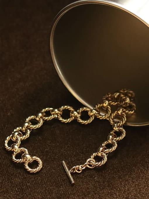 ACCA Brass hollow Geometric  chain Artisan Link Bracelet 2