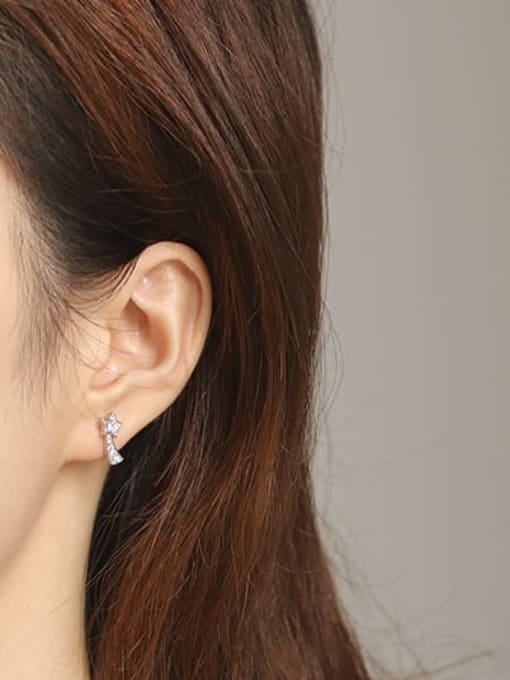 ACCA Brass Cubic Zirconia Star Dainty Stud Earring 2