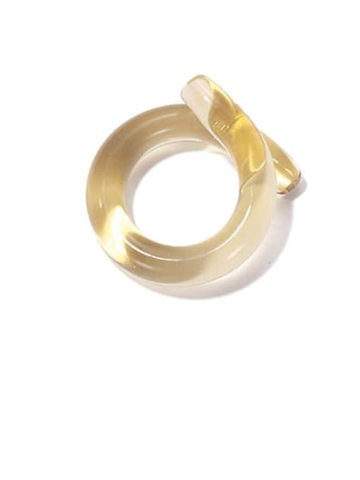 Off white ring Coloured Glaze Geometric Minimalist Band Ring
