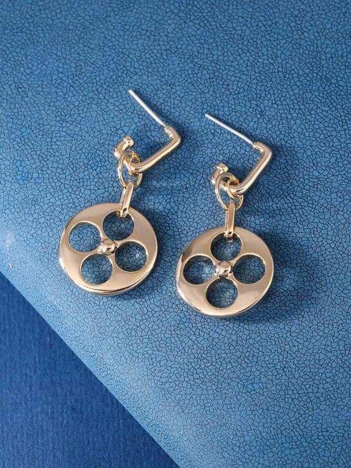 OUOU Brass Hollow Geometric Minimalist Stud Earring