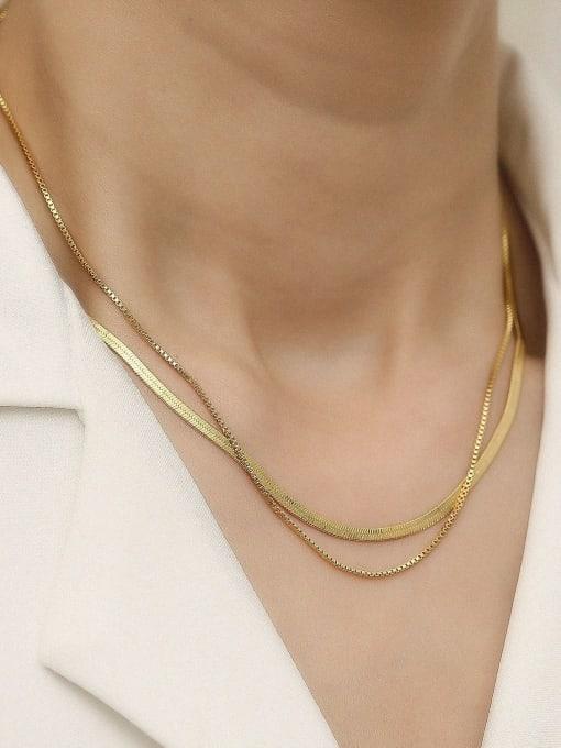 HYACINTH Brass Geometric Vintage Multi Strand Trend Korean Fashion Necklace 1