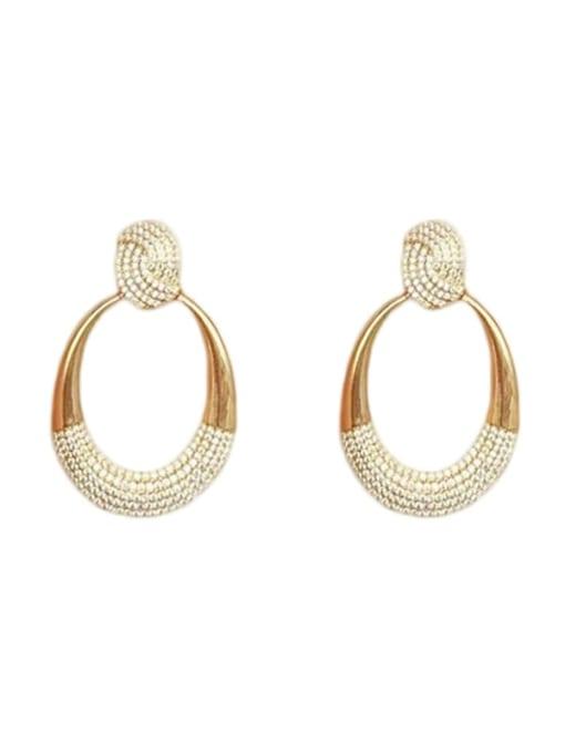 OUOU Brass Cubic Zirconia Water Drop Minimalist Drop Earring