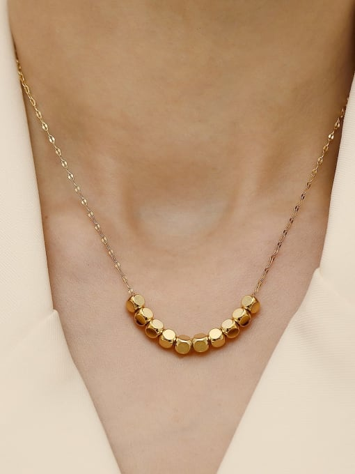 HYACINTH Brass  Smooth Locket Minimalist Necklace 2