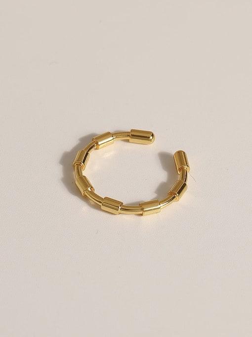 JZ101 Brass Geometric Vintage Band Ring