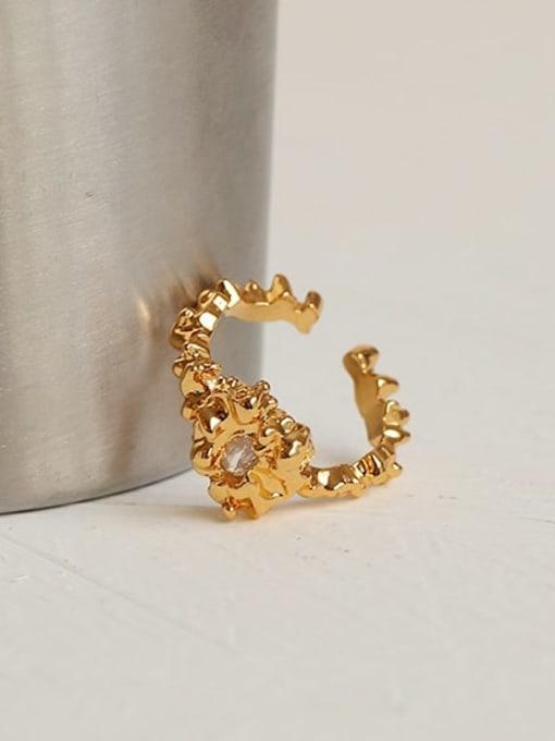 ACCA Brass Cubic Zirconia Irregular Vintage Band Ring 1