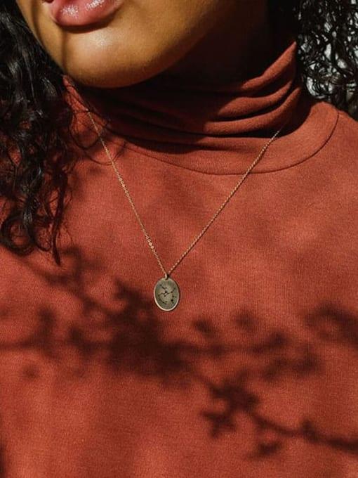 Desoto Stainless steel Constellation Minimalist  geometry Pendant Necklace 2