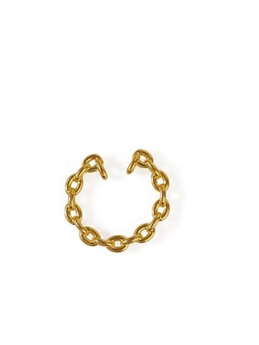 ACCA Brass Hollow Geometric Vintage Hoop Earring 0