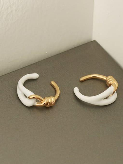 ACCA Brass Enamel Geometric Vintage Band Ring 1