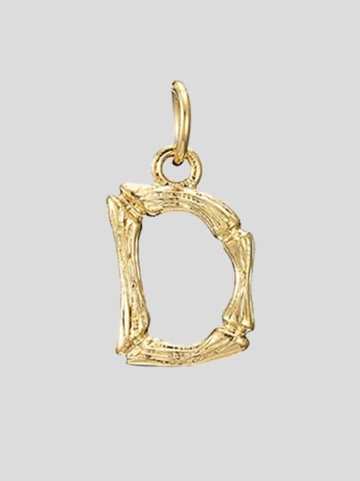 D 14K Gold Titanium Steel Letter Minimalist Necklace