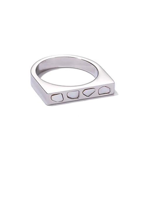 Steel U-ring Titanium Steel Shell Geometric Minimalist Band Ring