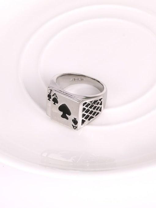 HISON Zinc Alloy Enamel Geometric Vintage Band Ring 3