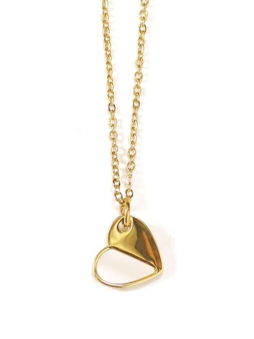 ACCA Titanium Shell Heart Minimalist Necklace 3