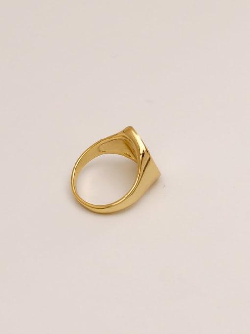 HYACINTH Brass Shell Geometric Minimalist Band Ring 2
