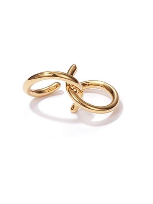 Gold single sale Brass Line Irregular Vintage Stud Earring(Single)