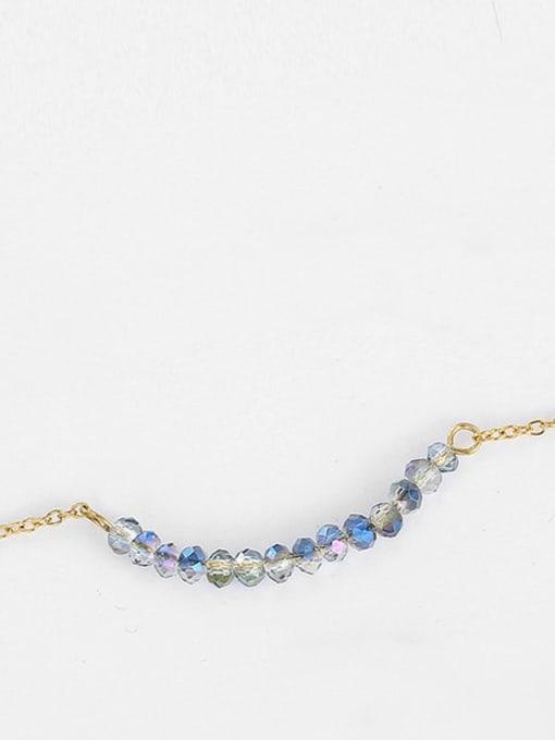 Desoto Stainless steel Bead Geometric Minimalist Multi Strand Necklace 2