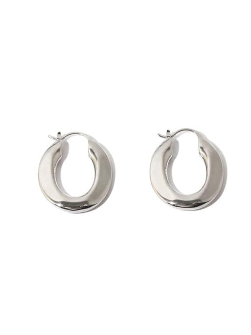 TINGS Brass Geometric Vintage U shape Huggie Earring