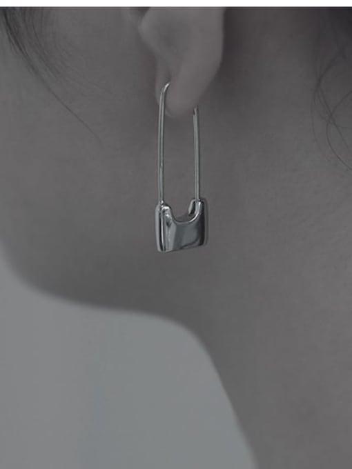 TINGS Brass PIN Geometric Minimalist Huggie Earring 2
