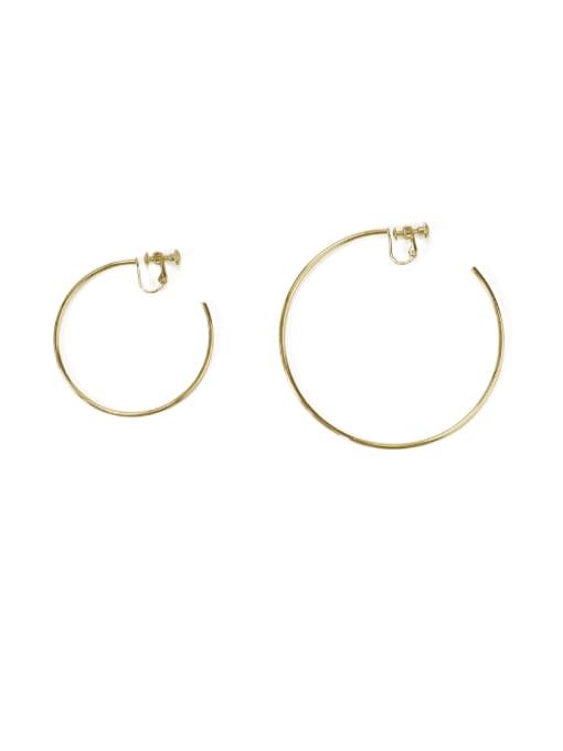 ACCA Brass Geometric Minimalist Hoop Earring 0