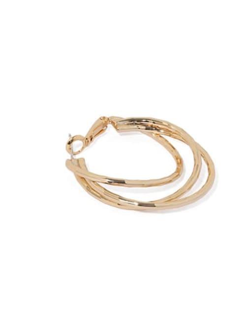 ACCA Brass Geometric Vintage Huggie Earring