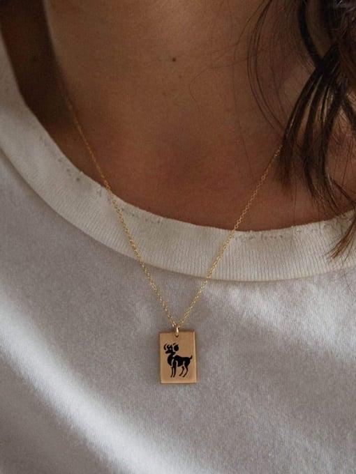 Desoto Custom Titanium Steel Constellation  Pendant Necklace