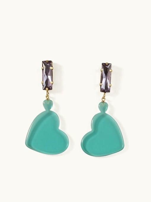 heart-shaped Alloy Acrylic Cloud Cute Drop Earring