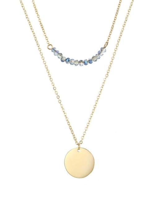 Desoto Stainless steel Bead Geometric Minimalist Multi Strand Necklace 0