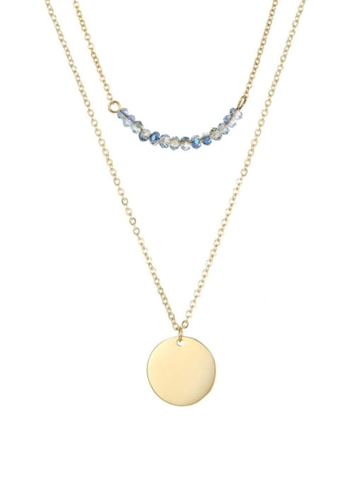 Desoto Stainless steel Bead Geometric Minimalist Multi Strand Necklace