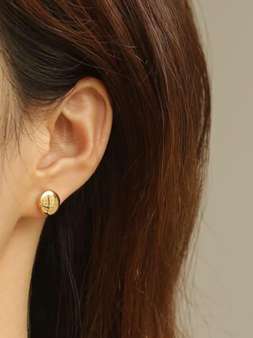 ACCA Brass Smooth Round Minimalist Stud Earring 1