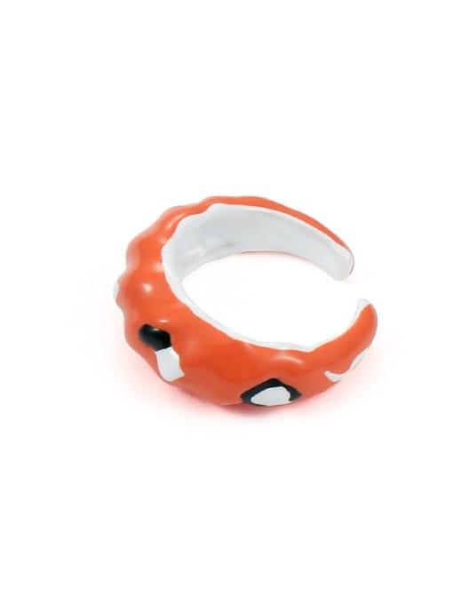 Model 2 (size 6 and 7) Zinc Alloy Enamel Irregular Minimalist Band Ring