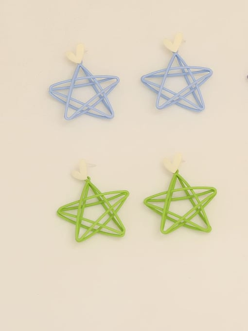 HYACINTH Copper Enamel Star Minimalist Stud Earring 1