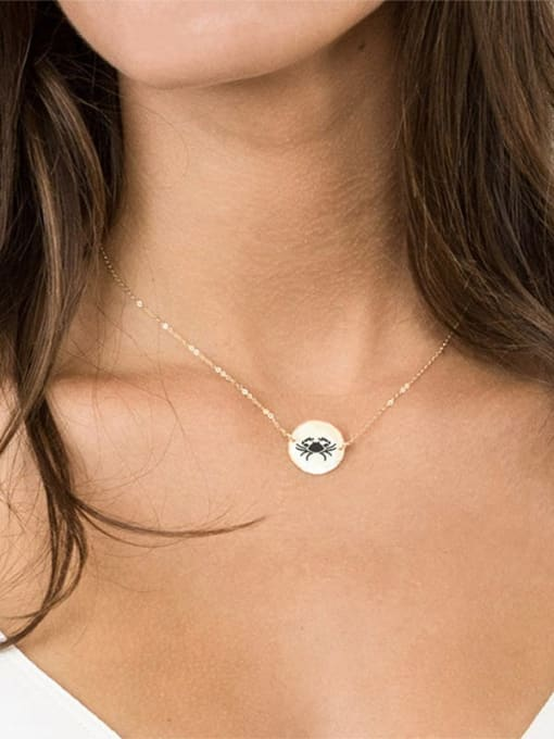 Desoto Titanium Steel Constellation Minimalist Round Pendant Necklace 2