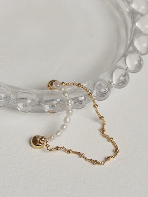 ACCA Brass Imitation Pearl Tassel Vintage Single Earring(ONLY ONE PCS) 2