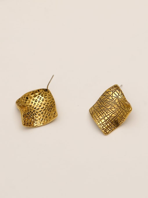 HYACINTH Brass Geometric Vintage Stud Earring 4