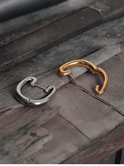 TINGS Brass Geometric Minimalist Huggie Earring 1