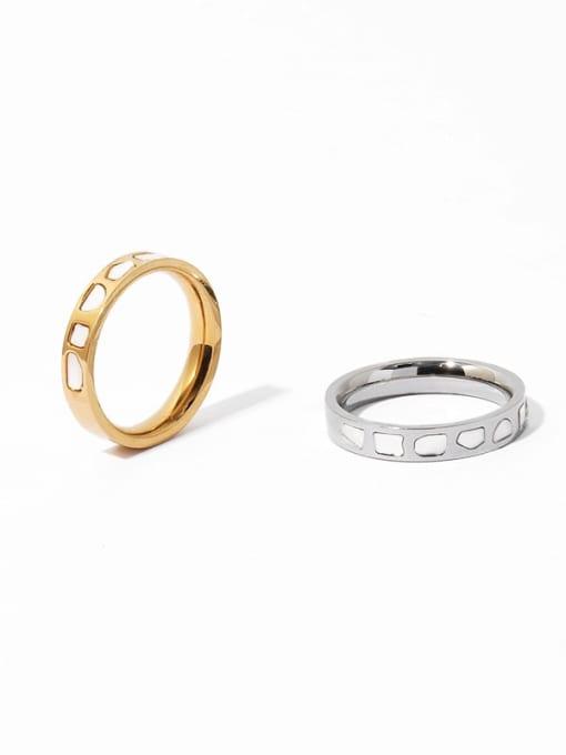 TINGS Brass Shell Irregular Vintage Band Ring 2