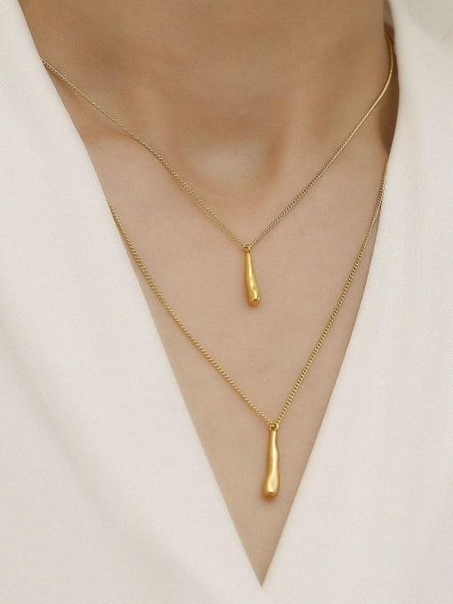 HYACINTH Brass Geometric Minimalist Multi Strand Necklace 2