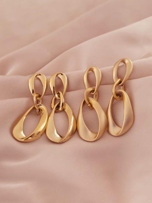 HYACINTH Brass Hollow Water Drop Minimalist Drop Earring 4