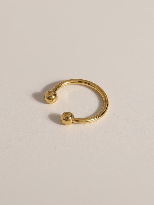 JZ093 Brass Geometric Vintage Band Ring