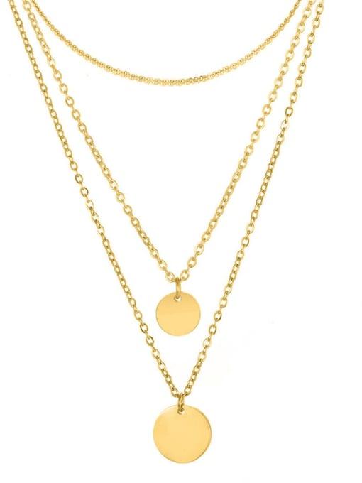 Desoto Stainless steel Geometric Minimalist Multi Strand Necklace 4