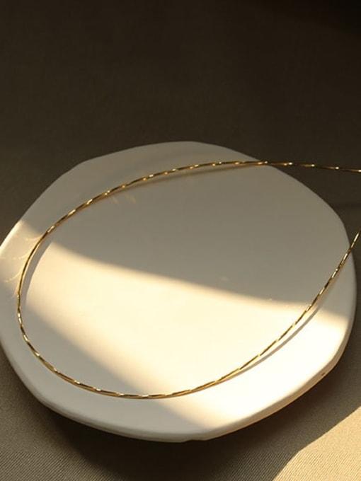 ACCA Brass Geometric Minimalist smooth chain Necklace 2