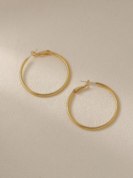 HYACINTH Brass Geometric Minimalist Hoop Trend Korean Fashion Earring 3