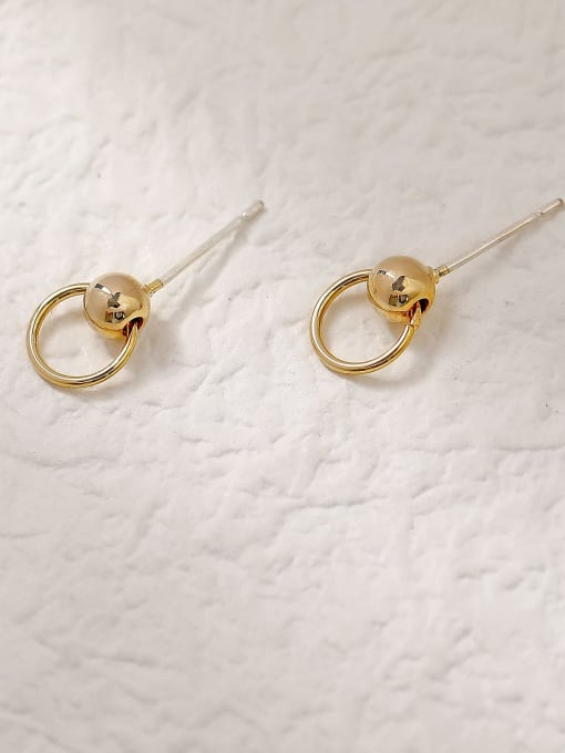 HYACINTH Brass Geometric Vintage Stud Trend Korean Fashion Earring 2