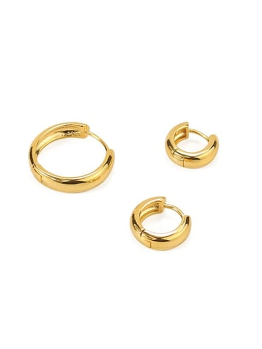 ACCA Brass Round Minimalist Huggie Earring(ONLY ONE PCS) 0