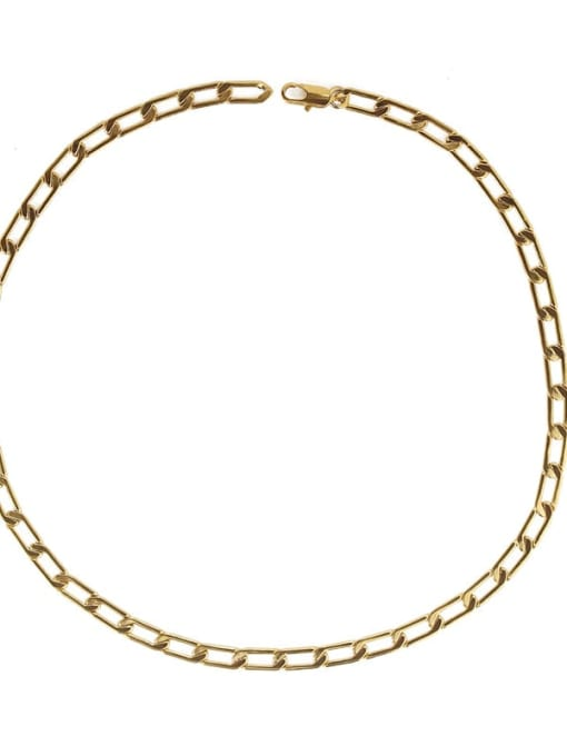 ACCA Brass Hollow Geometric  Chain Minimalist Necklace 2