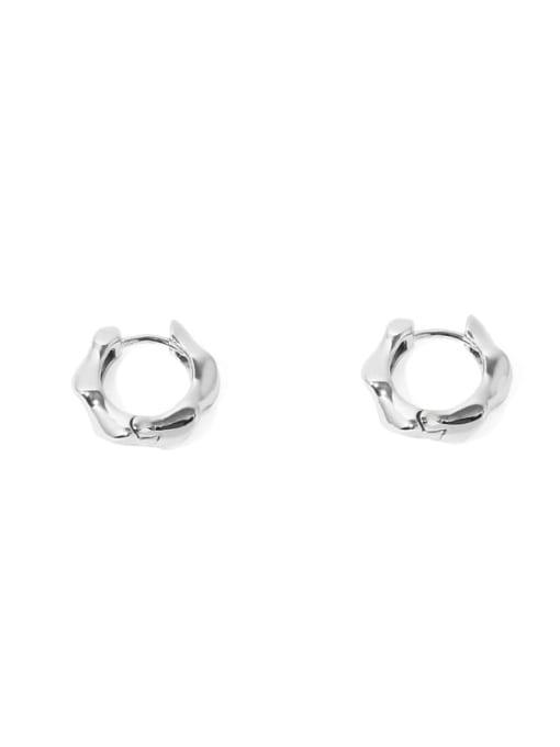 Rhodium Earrings Brass Geometric Vintage Huggie Earring